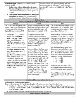 GO Math Chapter 4 Lesson Plans, Grade 2