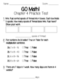 GO Math Chapter 4 Test and Practice Test-3rd Grade