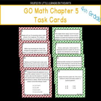 GO Math Chapter 5 Task Cards Grade 4