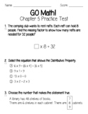 GO Math Chapter 5 Test and Practice Test-3rd Grade