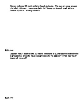 GO Math Chapter 6 Division Word Problems