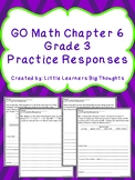 GO Math Chapter 6 Practice Responses Grade 3