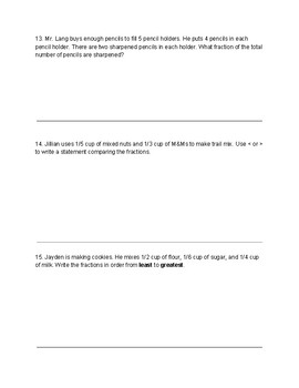 GO Math Chapter 6 Review Test- 4th Grade