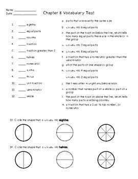 GO Math Chapter 8 Study Guide and Test