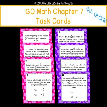 GO Math Chapter 7 Task Cards Grade 4