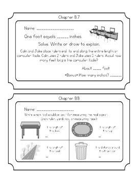 GO Math Chapter 8 Exit Tickets grade 2