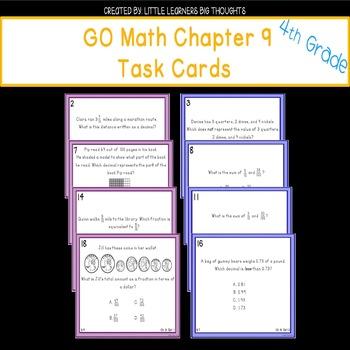 GO Math Chapter 9 Task Cards Grade 4