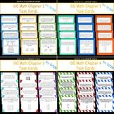 GO Math Chapters 1-4 Task Card Bundle Grade 4