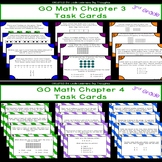 GO Math Chapters 3 and 4 Task Card Bundle Grade 3