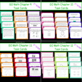 GO Math Chapters 9-12 Task Card Bundle Grade 3