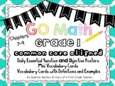 """GO Math"" Essential Question & Objective Posters & Vocabul"