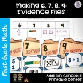 GO Math! First Grade Chapter 1 Center: Evidence Files