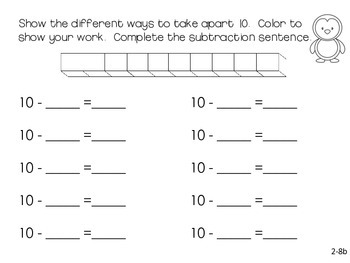 GO Math! First Grade Chapter 2 Freebie (Decomposing Numbers)