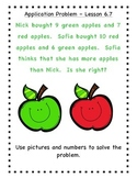 GO Math - First Grade, Chapter 6 - Journal Writing and Exit Slips