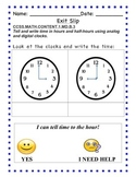 GO Math - First Grade, Chapter 9 - Exit Slips