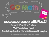 'GO Math' First Grade Essential Question Posters and Vocabulary Cards