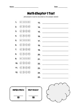 GO Math! Fourth Grade Test Cover Sheets