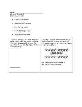 GO Math! Grade 3 Chapter 7