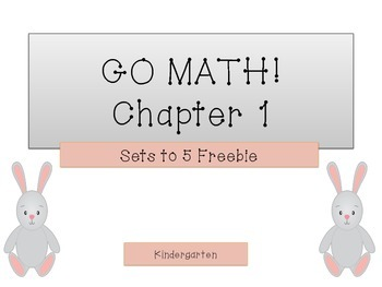 GO Math! K Chapter 1 Freebie (Numbers to 5)