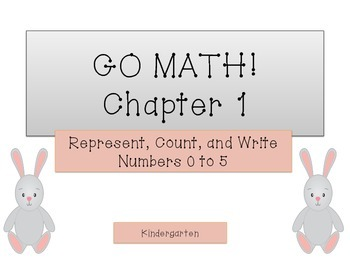 GO Math! Kindergarten Chapter 1 Activities (Numbers to 5)
