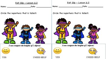 GO Math Kindergarten, Chapter 11 - Exit Tickets