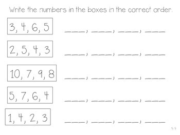 GO Math! Kindergarten Chapter 4 Activities (Represent and Compare Numbers to 10)