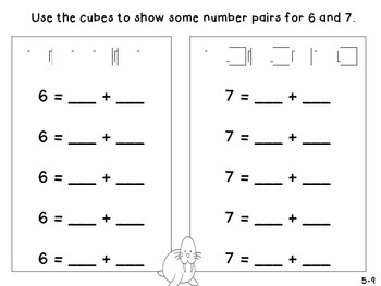GO Math! Kindergarten Chapter 5 Activities (Addition)