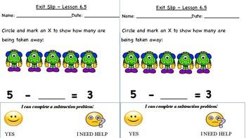 GO Math Kindergarten, Chapter 6 - Exit Tickets