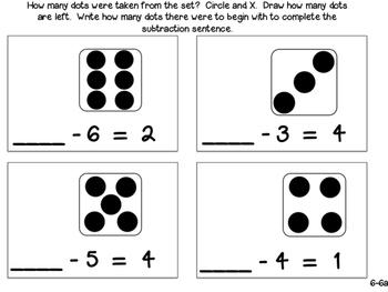 GO Math! Kindergarten Chapter 6 - Subtraction