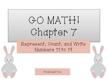 GO Math Kindergarten Chapter 7 - Numbers 11 to 19