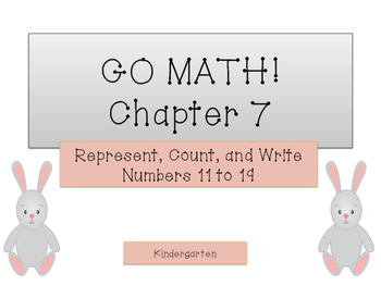 GO Math Kindergarten Chapter 7 - Numbers 11 to 19