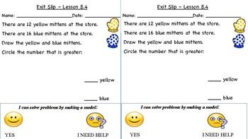 GO Math Kindergarten, Chapter 8 - Exit Tickets