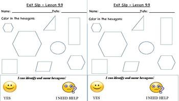 GO Math Kindergarten, Chapter 9 - Exit Tickets
