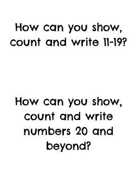 GO Math Kindergarten Standards by chapter