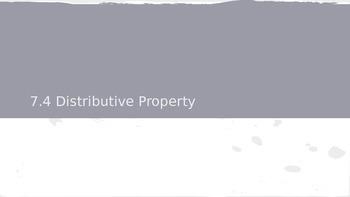 GO Math Lesson 7.4 Distributive Property