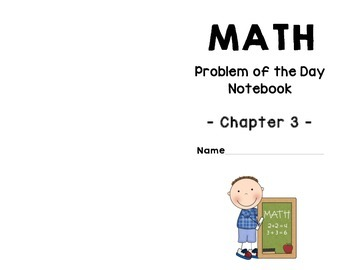 GO Math! Problem of the Day Notebook - Chapter 3 FREEBIE