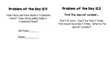 GO Math! Problem of the Day Notebook - First Grade Bundle!