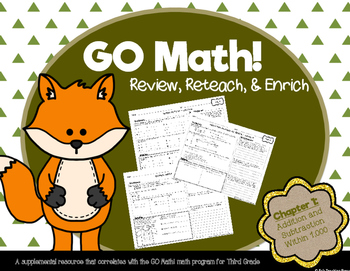 GO Math!: Review, Reteach, and Enrich (Third Grade; Chapter 1)