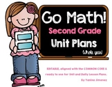 GO Math! Second Grade Unit & Daily Curriculum Guide for the WHOLE YEAR!!!