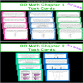 GO Math Chapters 1 and 2 Task Cards Bundle