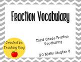GO Math Third Grade Chapter 8 Vocabulary Cards