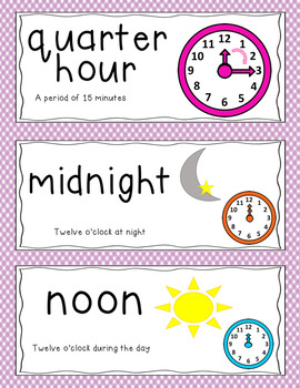 GO Math Vocabulary Word Wall Cards Chapter 10, Grade 3