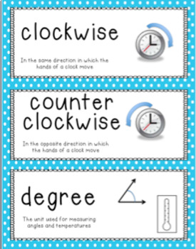 GO Math Vocabulary Word Wall Cards Chapter 11 Grade 4