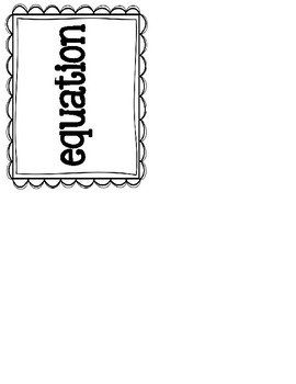 GO Math Word Wall Third Grade