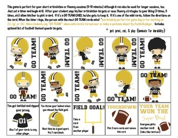 GO TEAM Quick Drill - Black & Gold {for articulation or fluency therapy & RTi}