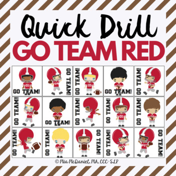 GO TEAM Quick Drill - Red  {for articulation or fluency therapy & RTi}