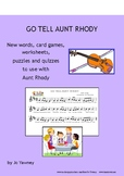 GO TELL AUNT RHODY - new words, card games, worksheets, pu