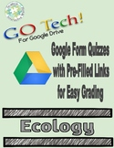 GO Tech! Google  Form Quizzes - Ecology  (Self-Grading!!!)