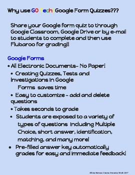 GO Tech! for Google Drive Form Quizzes - Introduction to Environmental Science