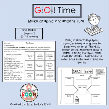 GO Time (Graphic Organizer) - First Grade 2017 Journeys - Lesson 2